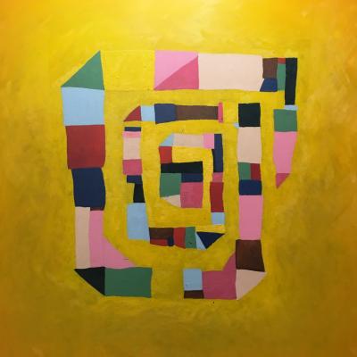 Sem título 3 | 2018 | óleo sobre tela | 150 x 150